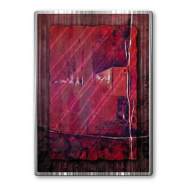 All My Walls 'Crimson Combination' by Ruth Palmer Painting Print Plaque