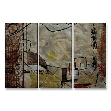 All My Walls 'Angular Momentum' by Ruth Palmer 3 Piece Graphic Art Plaque Set