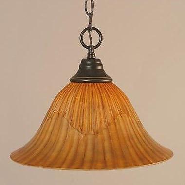 Toltec Lighting 1-Light Downlight Pendant; Dark Granite