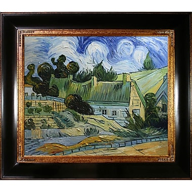 Tori Home Thatched Houses in Cordville by Vincent Van Gogh Framed Painting