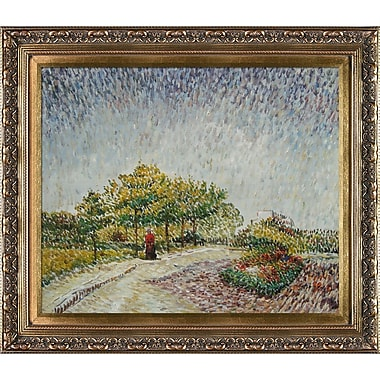 Tori Home Lane in the Argenson Park at Asnieres Spring by Vincent Van Gogh Framed Painting