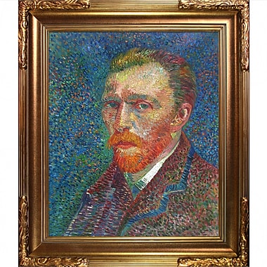 Tori Home Self Portrait by Vincent Van Gogh Framed Painting