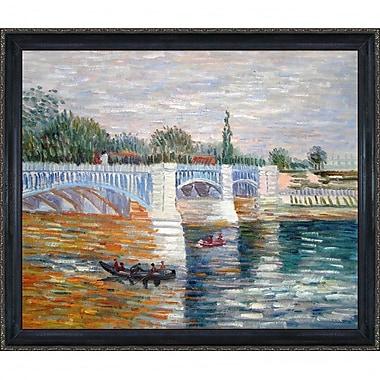 Tori Home The Seine w/ the Pont de la Grande Jatte Summer by Vincent Van Gogh Framed Painting