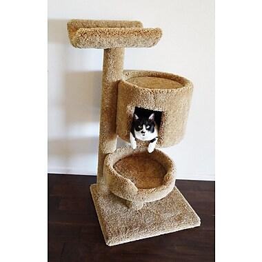 New Cat Condos 45'' Premier Bungalow Cat Tree; Brown