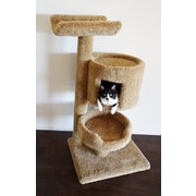 New Cat Condos 45'' Premier Bungalow Cat Tree; Brown