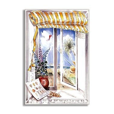 Stupell Industries Shells and Kite Faux Window Scene Wall Plaque