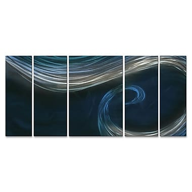 All My Walls 'To The Blue Point II' by Ash Carl 5 Piece Graphic Art Plaque Set