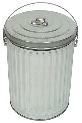 Witt Medium Duty Galvanized 10 Gallon Trash Can