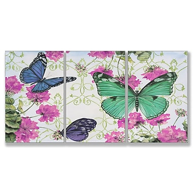 Stupell Industries Butterfly Inspirations Triptych 3 Piece Graphic Art Wall Plaque Set