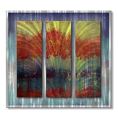 All My Walls 'River Runs Wild' by Michael Lang 3 Piece Graphic Art Plaque Set