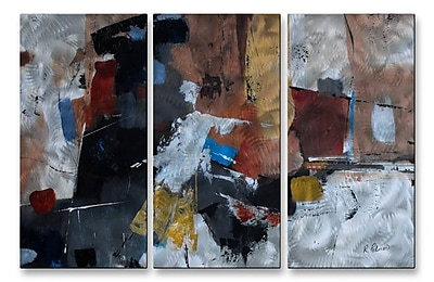 All My Walls 'Snazzy' by Ruth Palmer 3 Piece Painting Print Plaque Set
