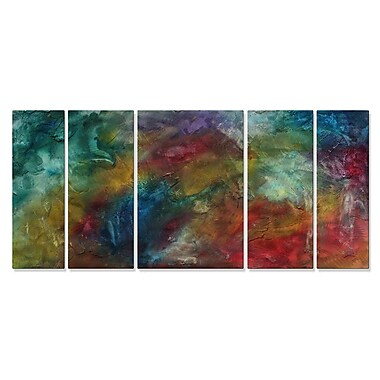 All My Walls 'Rainbow Dreams' by Megan Duncanson 5 Piece Graphic Art Plaque Set