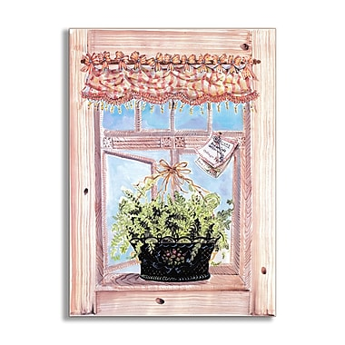 Stupell Industries Fern Faux Window Scene Wall Plaque