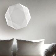 Morosini Diamond 3-Light Flush Mount; 7.7'' H x 31.5'' W x 31.5'' D
