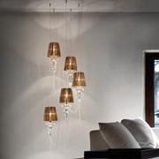 Evi Style Gadora 5-Light Cascade Cluster Pendant; Golden Teak