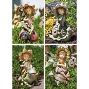 New Creative Garden Friends and Fairy Playmate Statue (Set of 4)