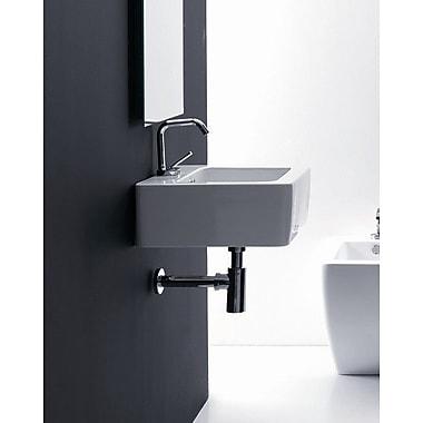 WS Bath Collections Kerasan Ego 23.6'' Wall Mount Bathroom Sink w/ Overflow