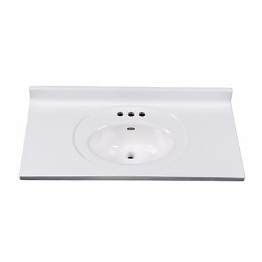 Imperial Recessed Center Oval Bowl 37'' Single Bathroom Vanity Top