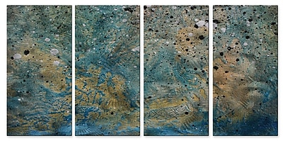 All My Walls On The Beach II' by Megan Duncanson 4 Piece Painting on Metal Plaque Set