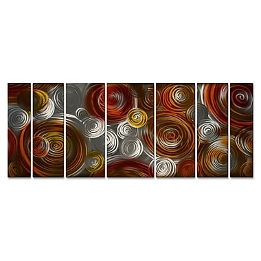 All My Walls 'Cosmic Cluster' by Ash Carl 7 Piece Graphic Art Plaque Set