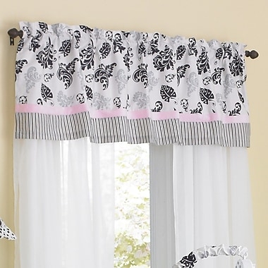 Laugh, Giggle & Smile Versailles Pink 54'' Window Curtain Valance