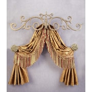 Menagerie Casa Artistica Top Treatment Large Royal Curtain Bracket; Gold