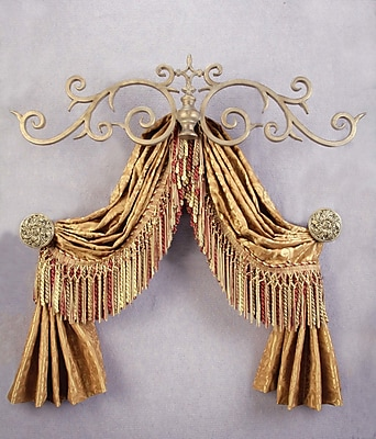 Menagerie Casa Artistica Top Treatment Large Royal Curtain Bracket; Gold