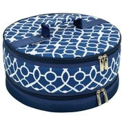 Picnic At Ascot Trellis Cake Carrier; Blue