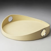 Butler Hors D'oeuvres Lido Oval Serving Tray; Cream