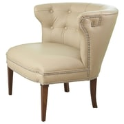 Global Views Greek Key Klismos Leather Barrel Chair