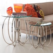 Global Views Small Oval Ring End Table