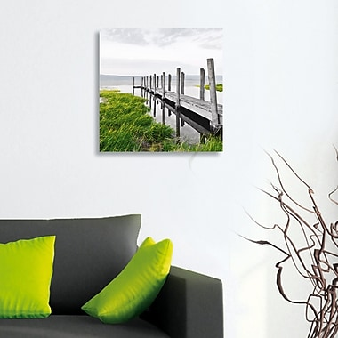 Platin Art Deco Glass Idyllic Jetty Photographic Print