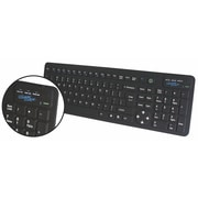 Vision 79700BK Kleen Keys™Infection Control Rigid Back Keyboard