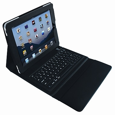 Vision ILBTK-BK Leather Case for iPad2 w/Keyboard, Black