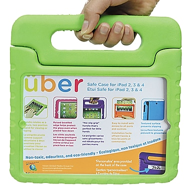 Vision IP234-GN Uber Safe Case for iPad 2/3/4, Green
