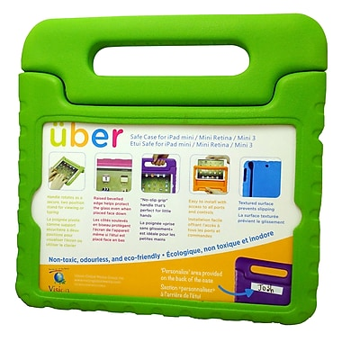 Vision IPMR-GN Uber Safe Case for iPad Mini/Mini Retina, Green