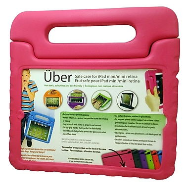 Vision IPMR-PK Uber Safe Case for iPad Mini/Mini Retina, Pink