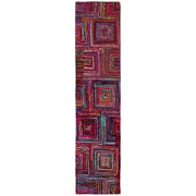 St. Croix Brilliant Ribbon Blocks Area Rug; Runner 2'6'' x 12'