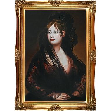 Tori Home Portrait of Dona Isabel de Porcel by Francisco Goya Framed Painting