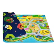 Dwinguler Kid's Playmat in My Town Indoor/Outdoor Area Rug