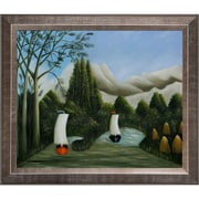Tori Home Bankes of the Oise by Henri Rousseau Framed Painting