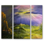 All My Walls 'The Path V.2' by Lorenzo Roberts 3 Piece Painting Print Plaque Set