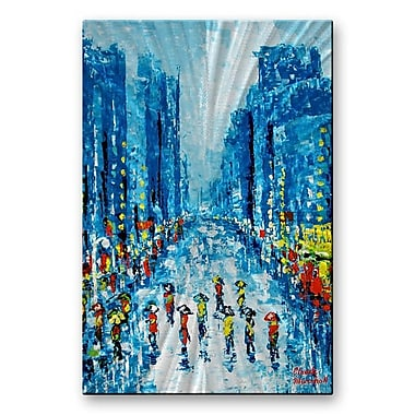 All My Walls 'Across Town' by Claude Marshall Painting Print Plaque