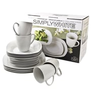 Ten Strawberry Street Simply Square 16 Piece Dinnerware Set, Service for 4