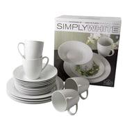 Ten Strawberry Street Simply 16 Piece Dinnerware Set, Service for 4