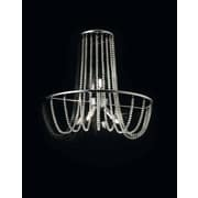 Evi Style Fall 3-Light Flush Mount; Crystal Pearl