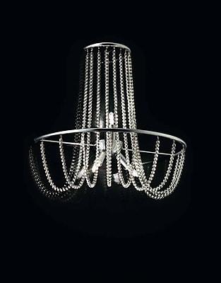 Evi Style Fall 3-Light Flush Mount; Crystal Pearl