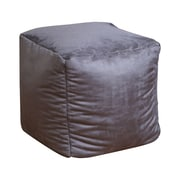 Home Loft Concepts Whitney Bean Bag Cube Ottoman; Grey