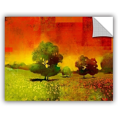 ArtWall 'Drenched Grace' by Greg Simanson Painting Print; 14'' H x 18'' W x 0.1'' D