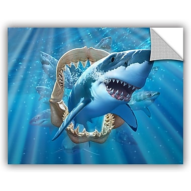 ArtWall 'Great Shark' by Jerry Lofaro Graphic Art; 14'' H x 18'' W x 0.1'' D
